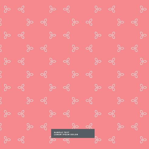 cute red flower pattern background