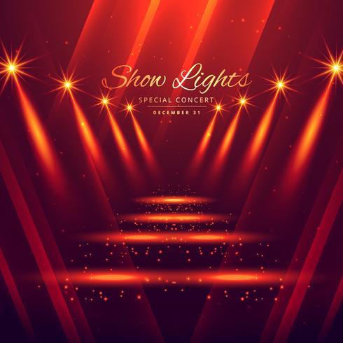 spot lights stage enterance background