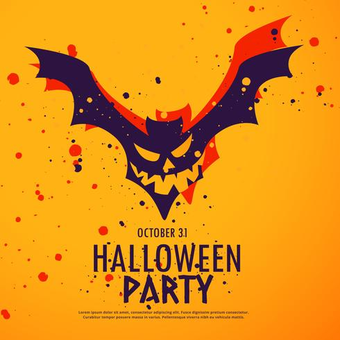 happy halloween party background illustration