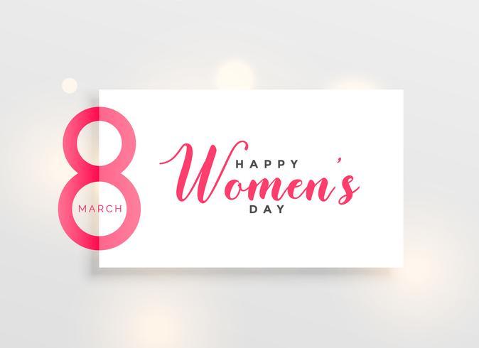 Arrière-plan de conception salutation journée des femmes élégantes