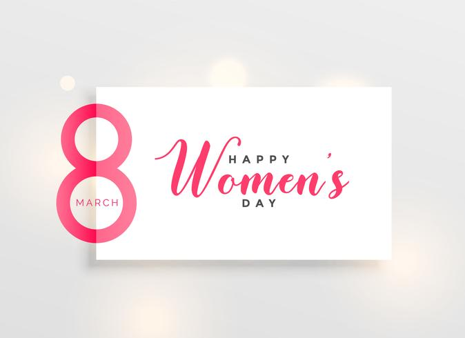 elegant women's day greeting design background