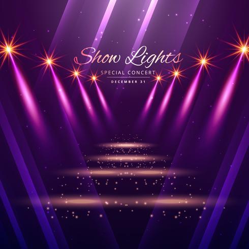 show lights enterance background