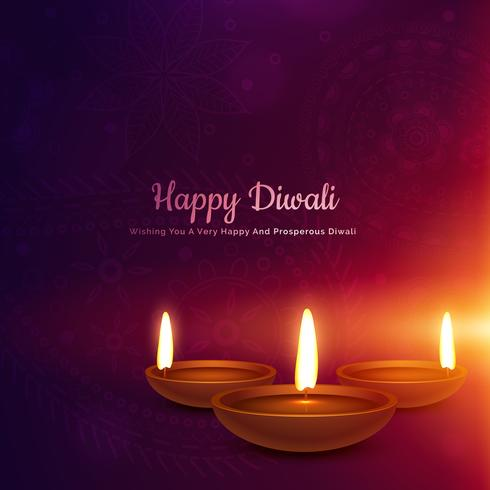 diwali festival diya in glowing light background