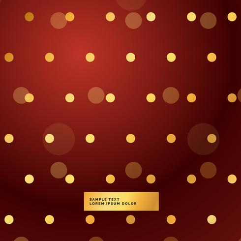 red background with golden polka dots