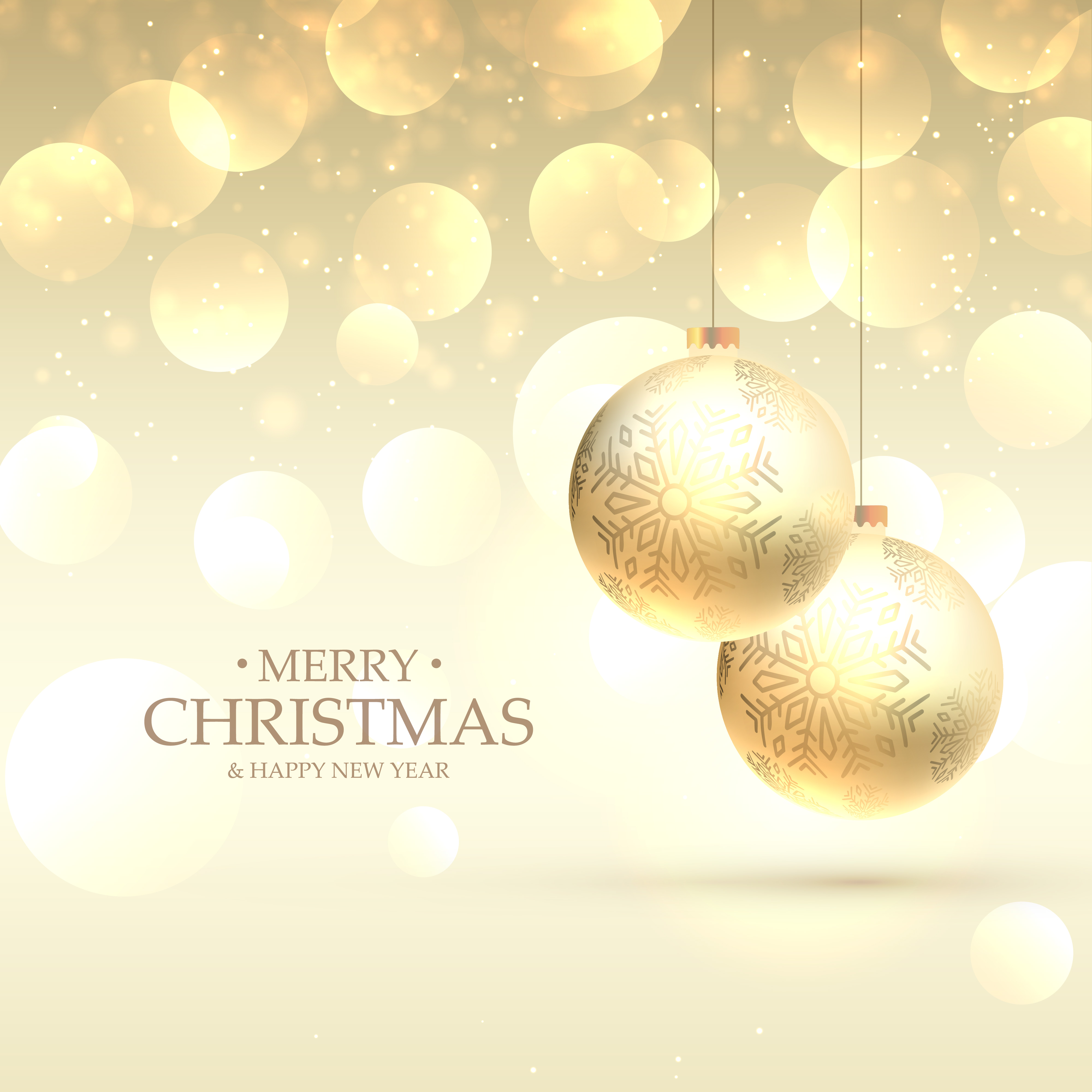 beautiful elegant merry christmas greeting card background with ...