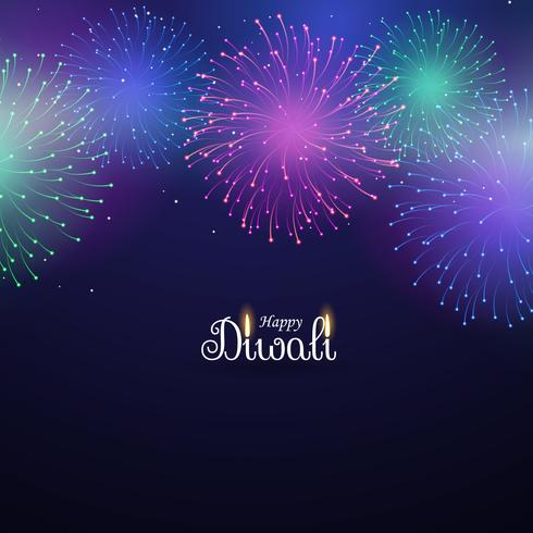 colorful fireworks display on blue background