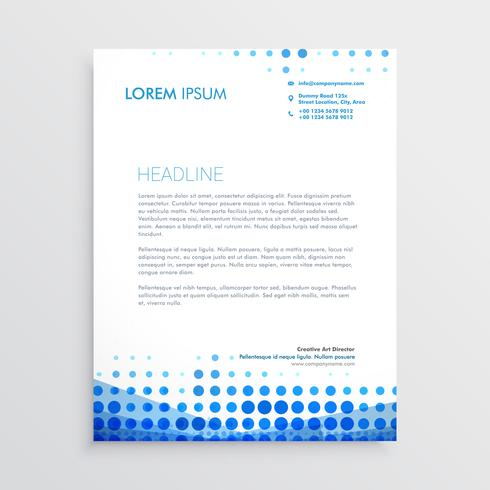 creative blue business letterhead design