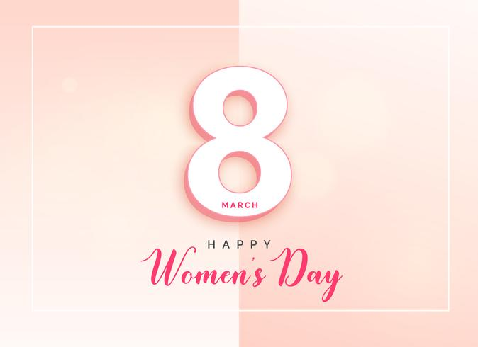 happy women's day elegant card design