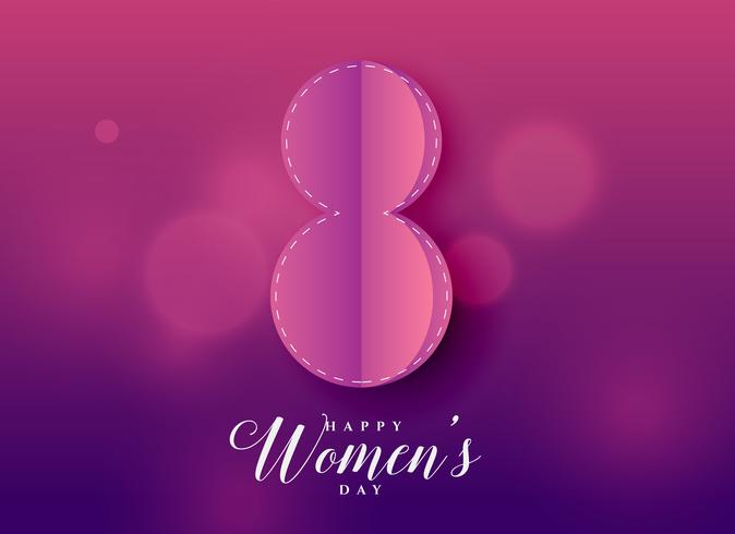 purple beautiful happy women's day background