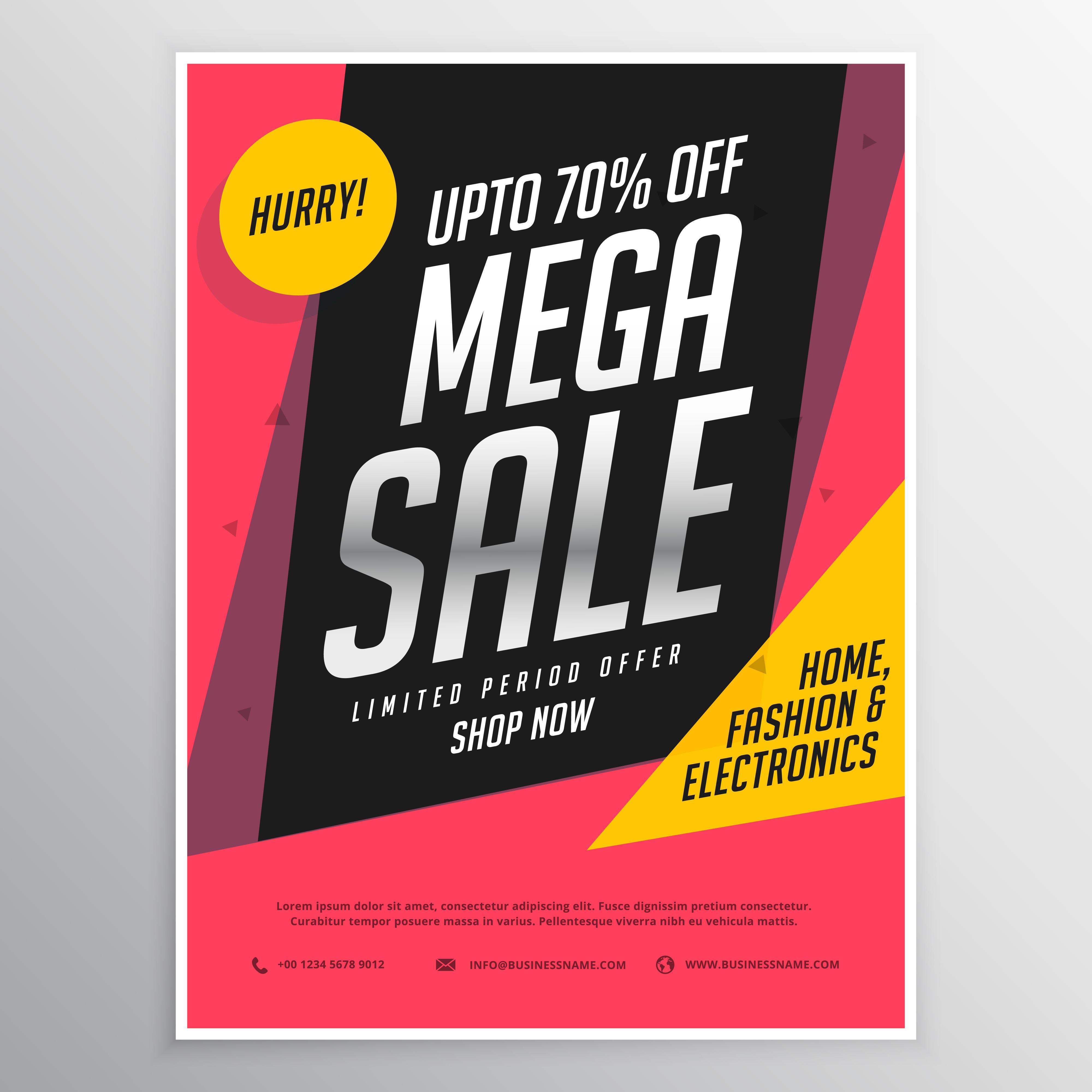 Mega Sale Poster Banner Template Design