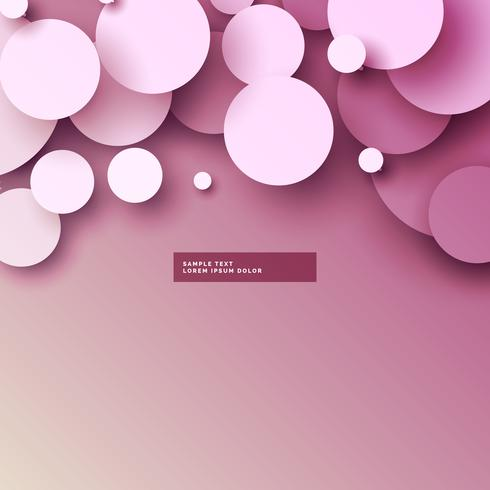 soft pink 3d circles background