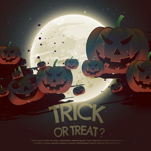 trick or treat halloween festival background