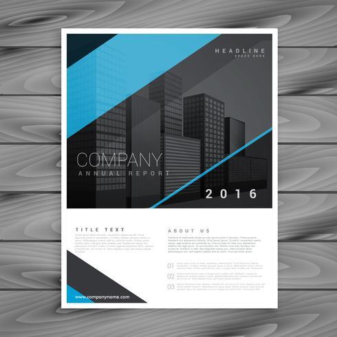 minimal style blue brochure template design