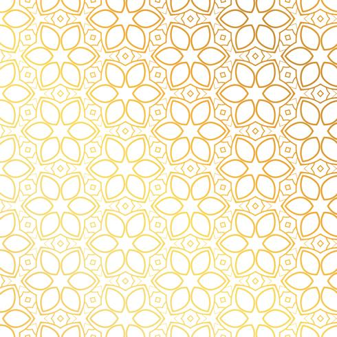 golden flower pattern background design