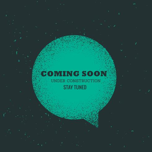 comin soon text placed on blue chat bubble