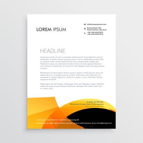 design de papel timbrado moderno laranja e preto