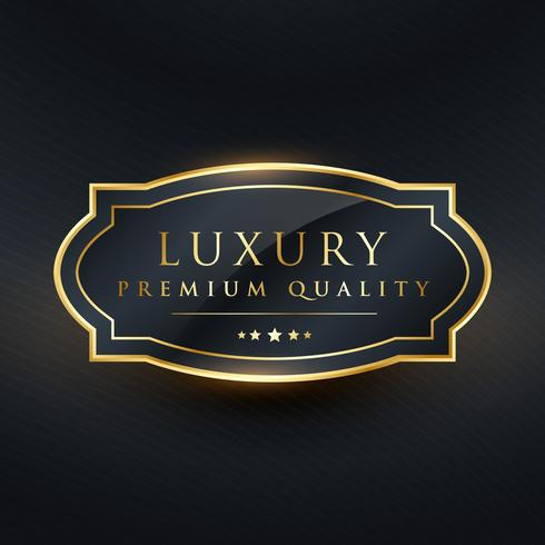luxury premium quality vector label design
