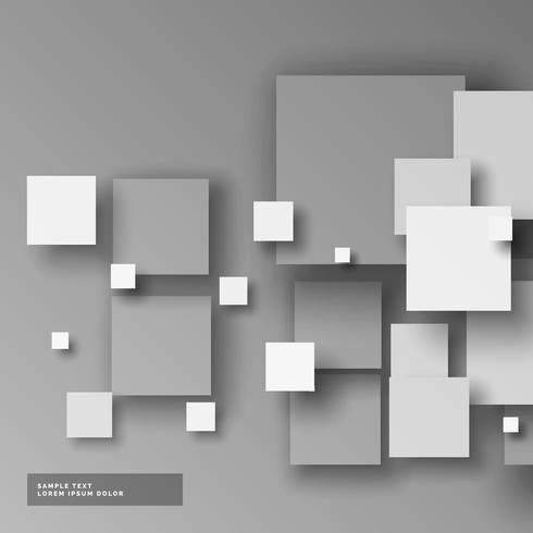 elegant gray 3d squares mosaic vector background