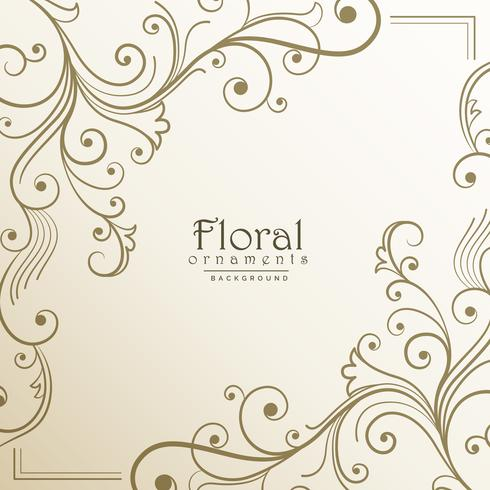 härlig blommig bakgrundsdesign