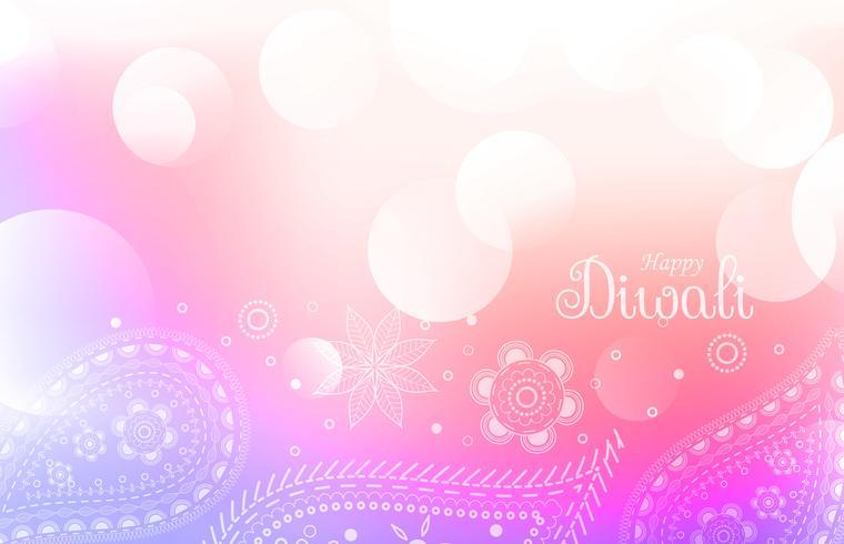 soft colorful diwali greeting background