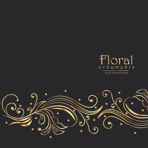 amazing golden floral background border design
