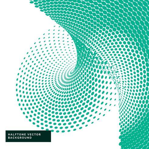 grüne Halbtonpunkte im abstrakten Stil
