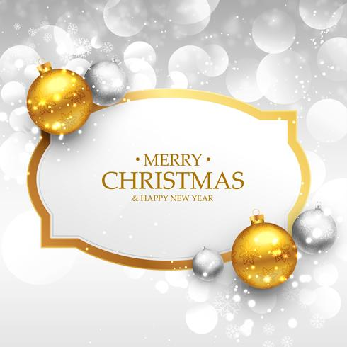 beautiful merry christmas greeting design with realistic gold an