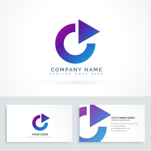 Circle arrow triangle logo design with business card download circle arrow triangle logo design with business card reheart Gallery