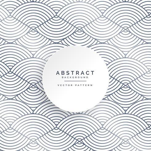 abstrakter Kreis zeichnet weißen Musterhintergrund