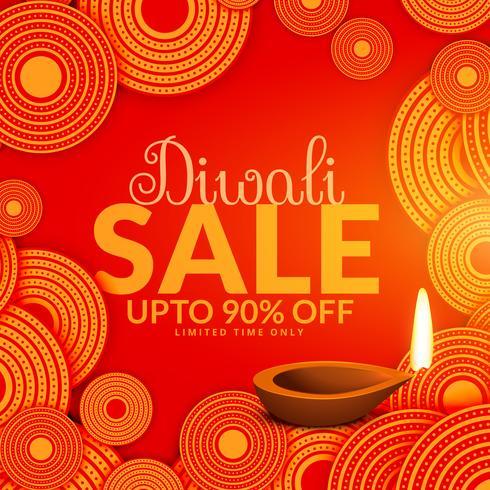 amazing diwali sale festival voucher background