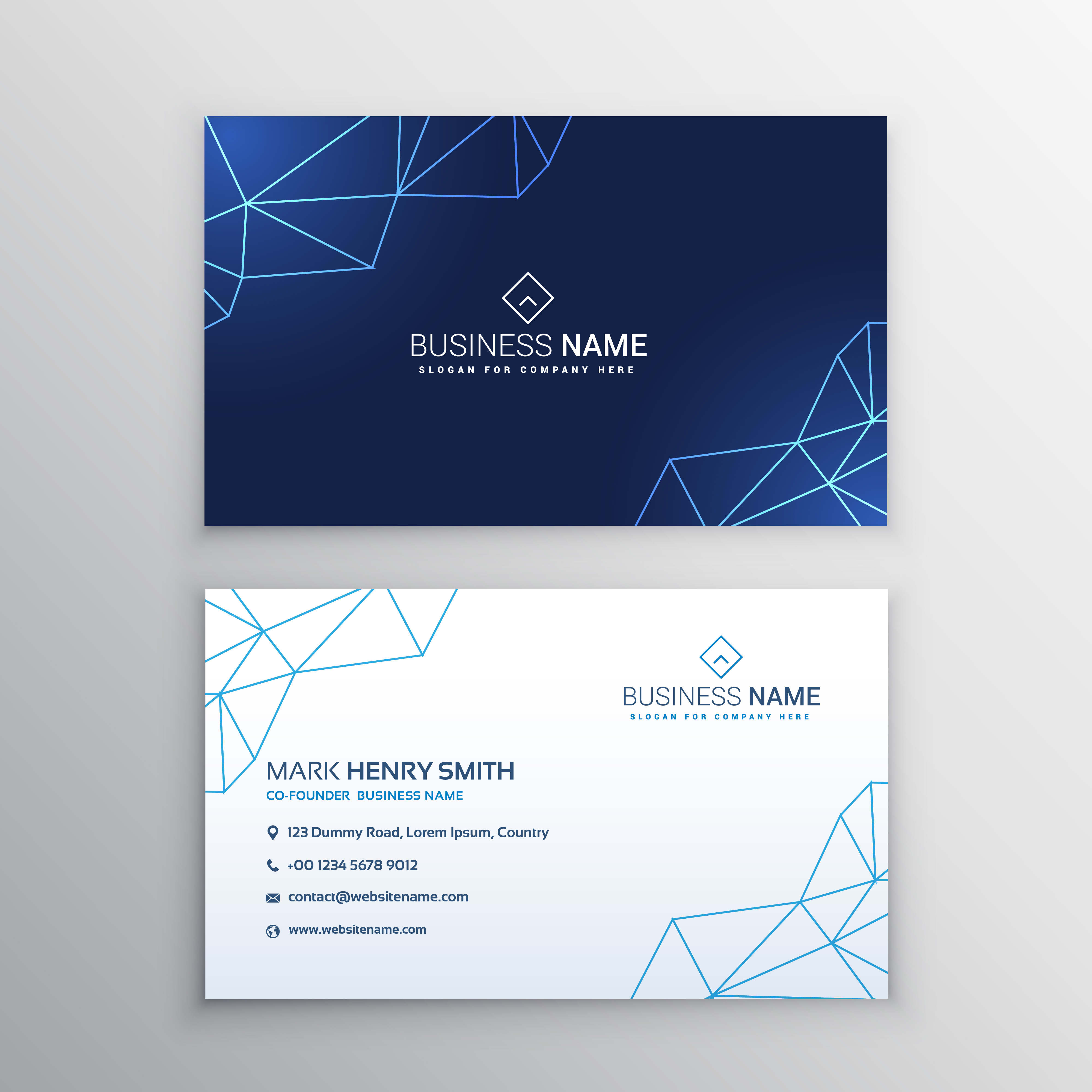 Business Card Layout Template: Technology Business Card Design Template