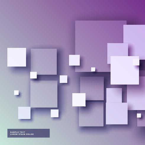 purple background with 3d squared in different sizes