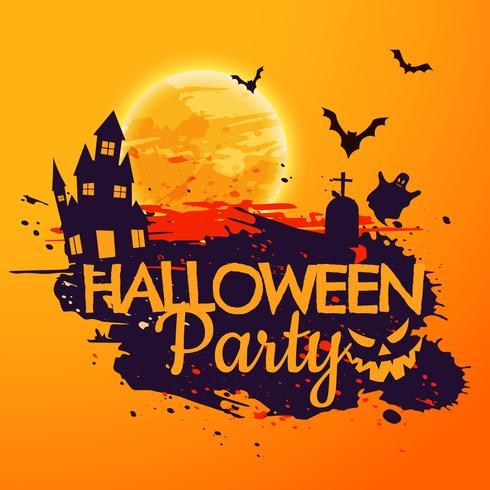 grunge style halloween party background