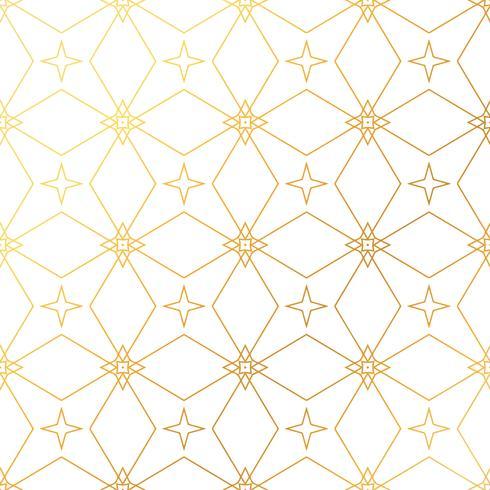 Abstracte geometrische gouden patroonachtergrond. Naadloze gouden ba