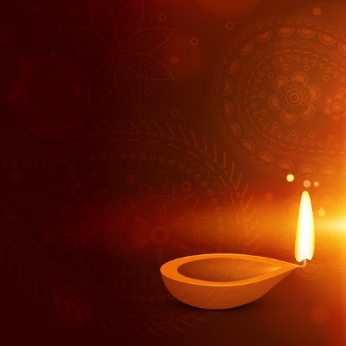 schöner Diwali-Hintergrund mit Diya. Diwali-Gruß