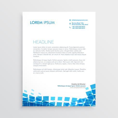 papier à en-tête de style mosiac bleu