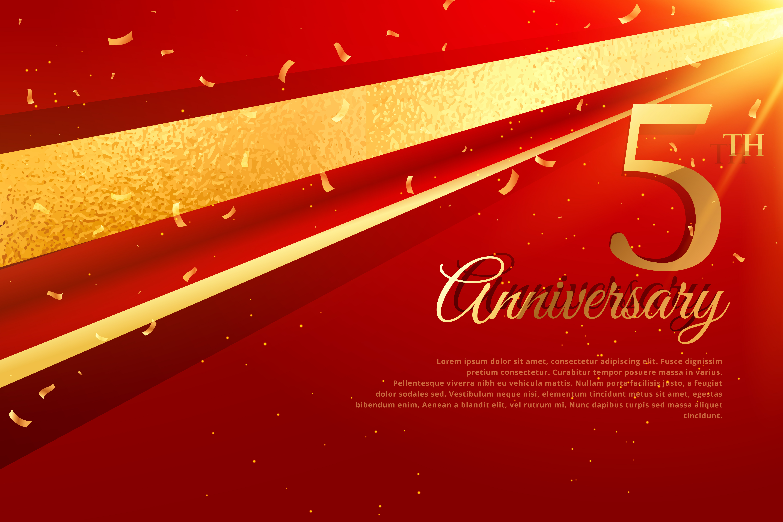 5th anniversary celebration card template