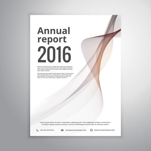 corporate annual report brochure identity template with gray wav