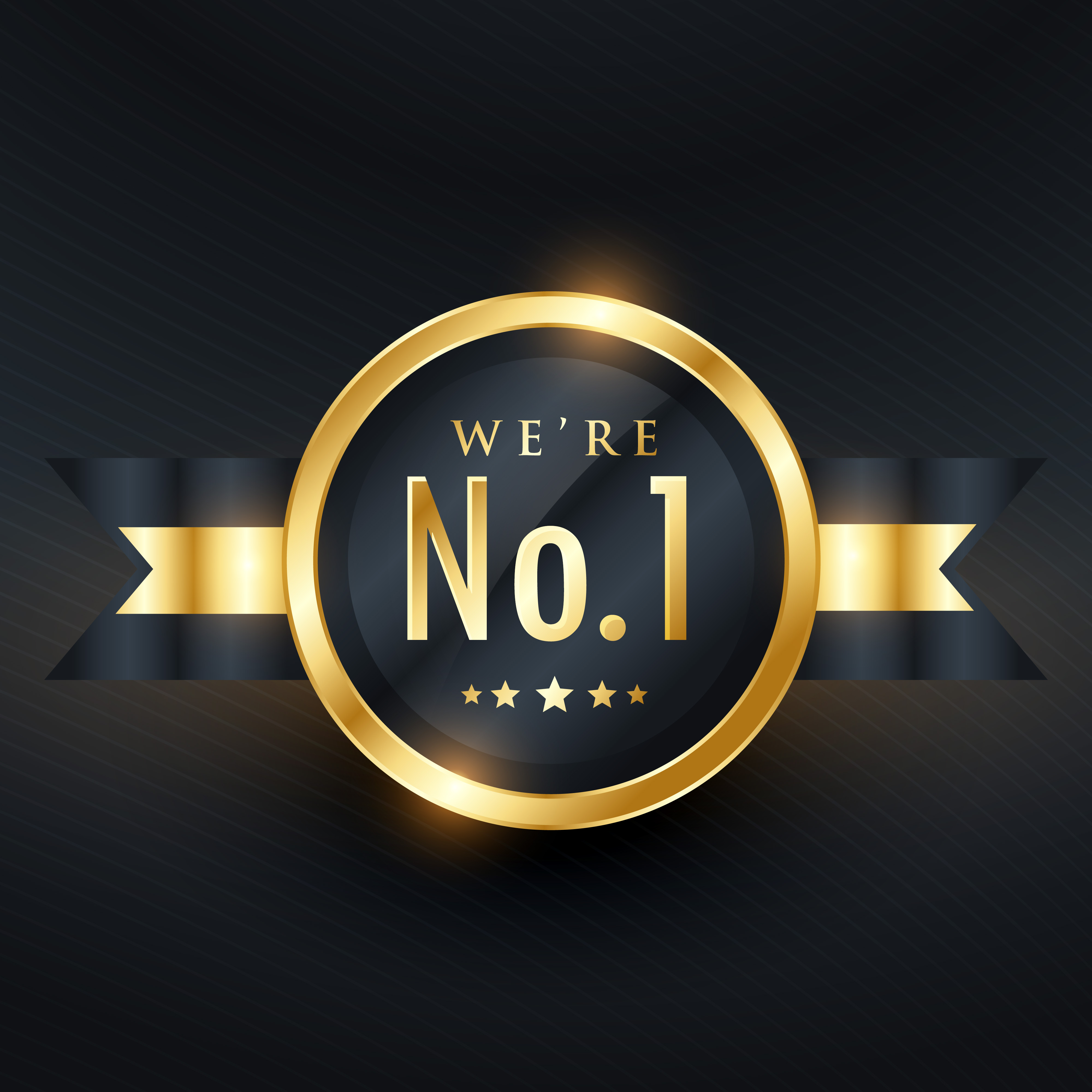 no  1 leadership business golden label design