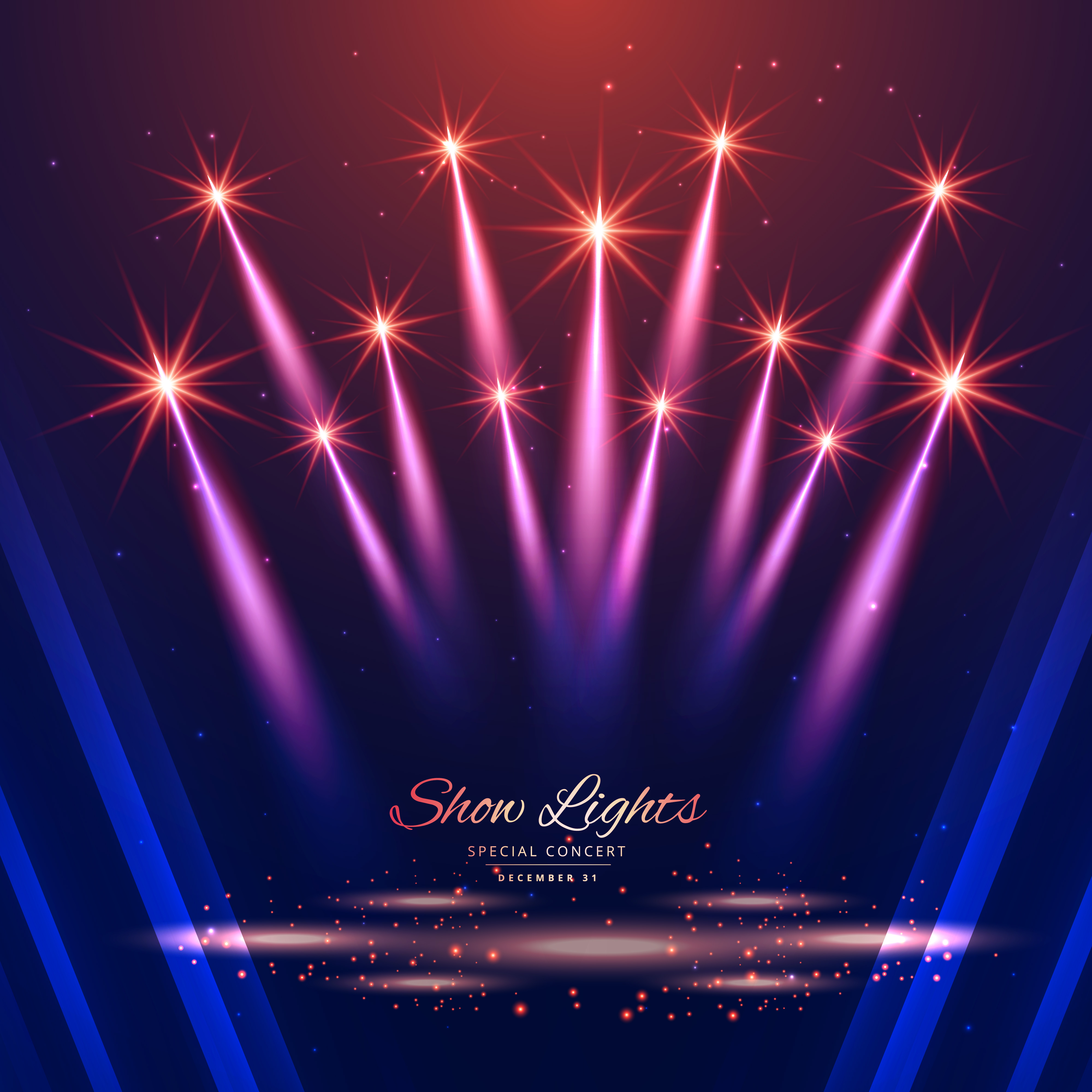 Theater Lights Background: Beautiful Show Lights Background