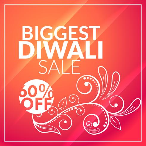 beautiful diwali sale marketing background with floral design
