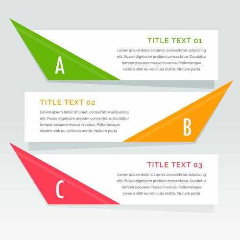 tre steg infographic options banner