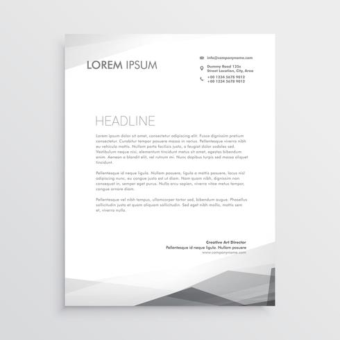 business letterhead design template in gray shade