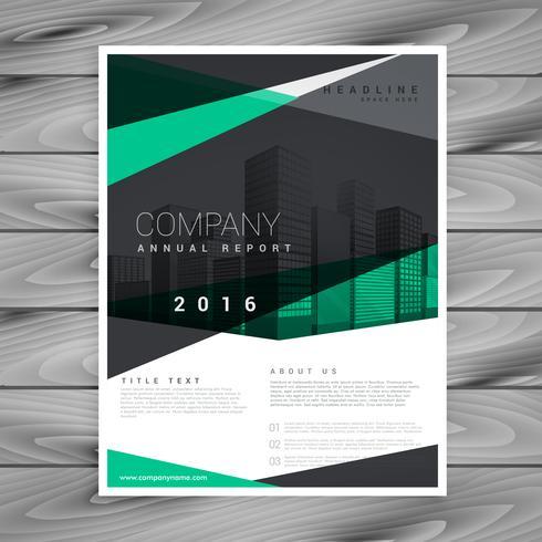 conception de brochure d'entreprise forme géométrique élégante