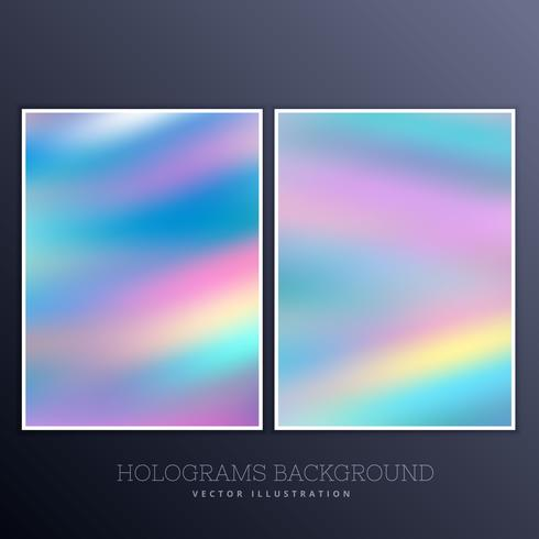 ser of holographic background with vibrant colors