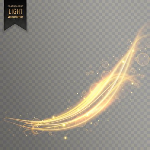abstract wavy golden light effect background