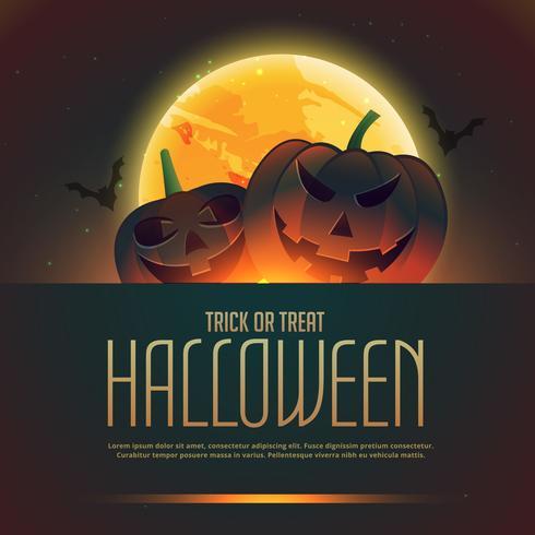 abóboras do cartaz do fundo de Halloween