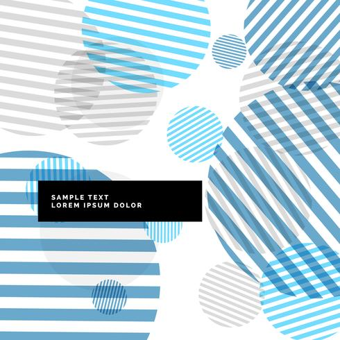 abstract stripes circles background with blue theme