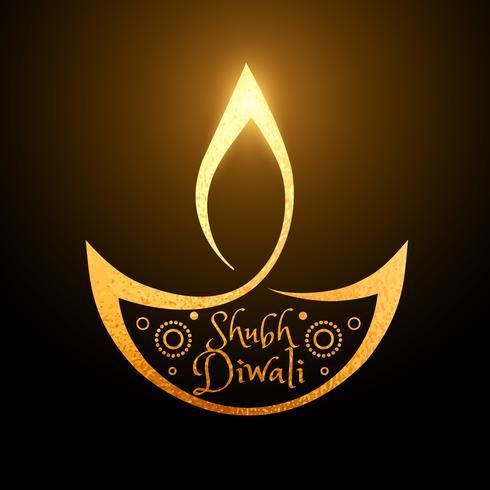 fundo de diya dourado de festival artístico de diwali
