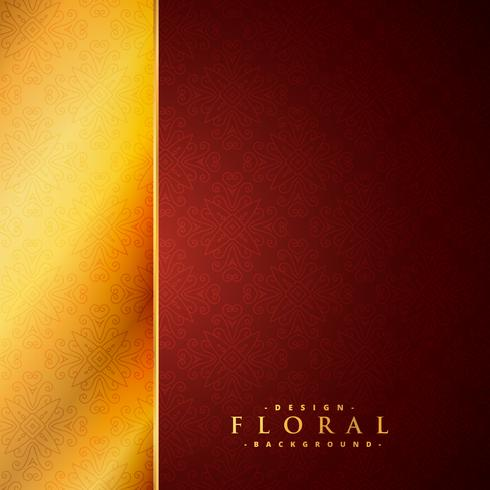 red and golden luxury floral background